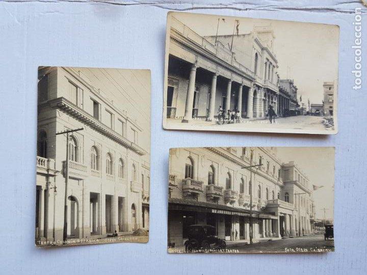 CUBA CAIBARIEN Y SANTA CLARA FOTOGRAFICAS COLONIA ESPAÑOLA COCHES EMIGRACION GENTE AÑO 1924 LP17 (Postales - Postales Extranjero - América)