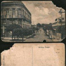 Postales: 1130 - BRASIL - MANAOS ANTIGUA MANAUS RUA JOAQUIM SARMENTO - POSTAL 1910' DAÑADA. Lote 277154298