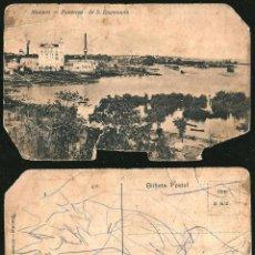 Postales: 1131 - BRASIL - MANAOS ANTIGUA MANAUS S. RAYMUNDO VISTA PANORAMICA - POSTAL 1910' DAÑADA. Lote 277154383