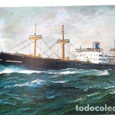 Postales: ANTIGUA POSTAL DE BARCO JOHN WATERMAN. Lote 277392043