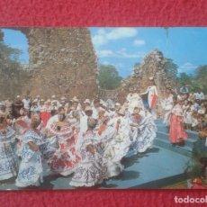 Postales: POST CARD CARTE POSTALE PANAMÁ LA VIEJA FOLKLORE MÚSICA BAILES...MUSIC DANCE...TRAJES TÍPICOS...ETC. Lote 277559283