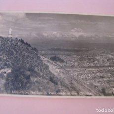 Postales: POSTAL FOTOGRÁFICA DE CHILE. SANTIAGO. VISTO DESDE EL SAN CRISTOBAL.. Lote 277562193