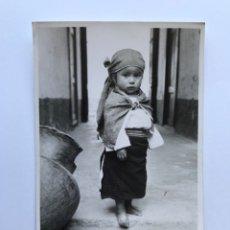 Postales: ECUADOR, POSTAL FOTOGRAFÍCA NIÑA INDÍGENA DE OTOVALO. FOTOTECNIA STEIN (H.1960?) S/C. Lote 278169003