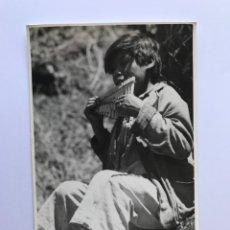 Postales: ECUADOR, POSTAL FOTOGRAFÍCA MUCHACHO CON RONDADOR. FOTOTECNIA STEIN (H.1960?) S/C. Lote 278169278