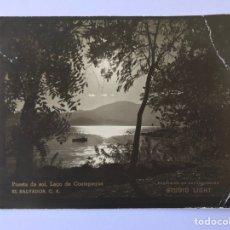 Postales: EL SALVADOR C.A. POSTAL FOTOGRAFÍCA. PUESTA DE SOL, LAGO DE COAETEPEQUE. STUDIO LIGHT (H.1960?) S/C. Lote 278169808