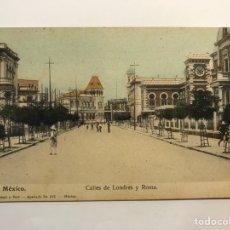 Postales: MEXICO. POSTAL ANIMADA. CALLES DE LONDRES Y ROMA.., EDITA LATAPI Y BERT (H.1910?) S/C. Lote 278182448