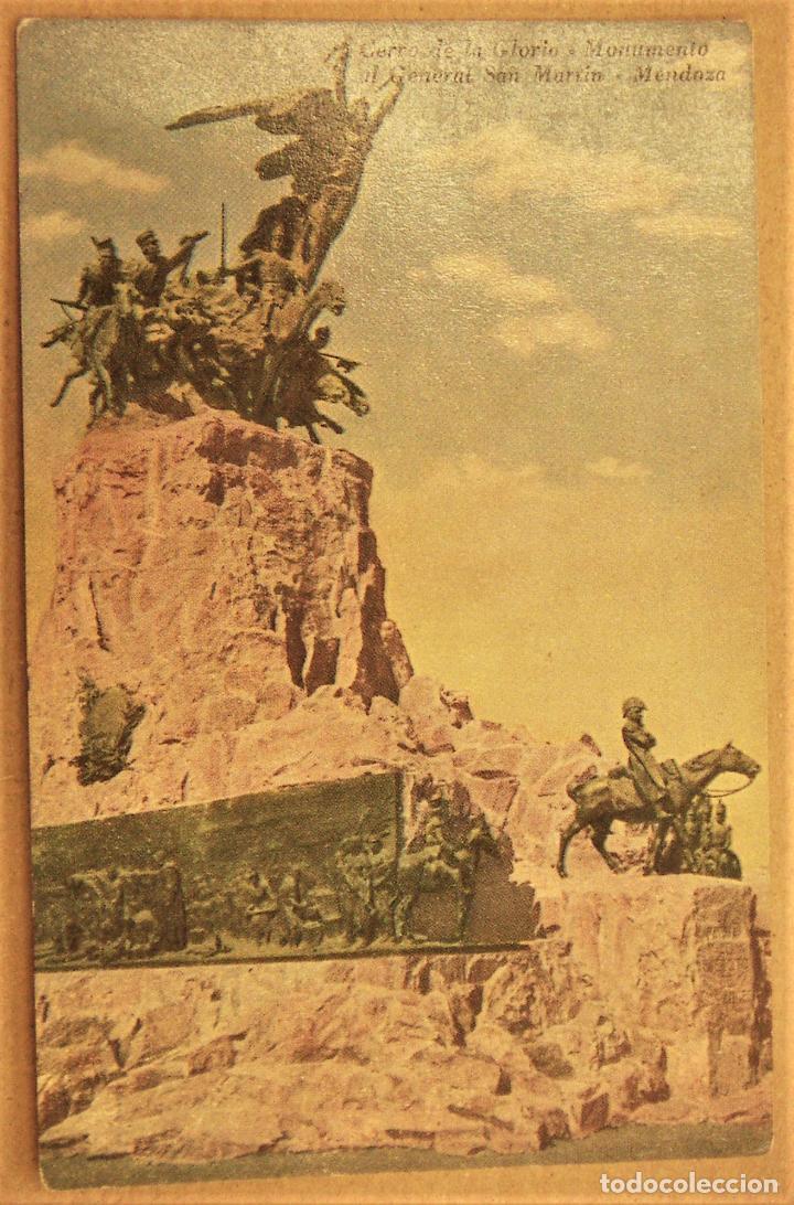 POSTAL DE MENDOZA (ARGENTINA).CERRO DE LA GLORIA MONUMENTO AL GENERAL SAN MARTIN SIN ESCRIBIR (Postales - Postales Extranjero - América)