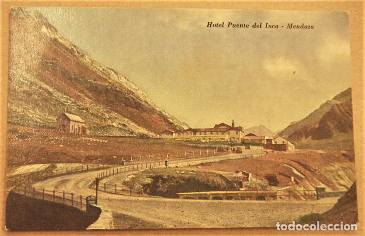 POSTAL DE MENDOZA (ARGENTINA).HOTEL PUENTE DEL INCA SIN ESCRIBIR (Postales - Postales Extranjero - América)