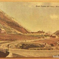 Postales: POSTAL DE MENDOZA (ARGENTINA).HOTEL PUENTE DEL INCA SIN ESCRIBIR. Lote 278956723