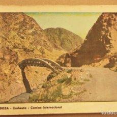 Postales: POSTAL DE MENDOZA (ARGENTINA).CACHEUTA CAMINO INTERNACIONAL SIN ESCRIBIR. Lote 278957403