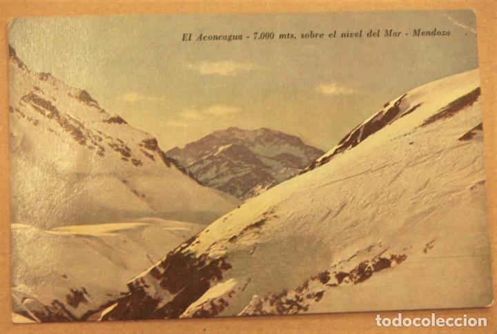POSTAL DE MENDOZA (ARGENTINA).EL ACONCAGUA 7000 MTS SIN ESCRIBIR (Postales - Postales Extranjero - América)