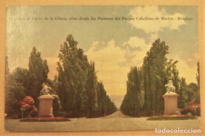 POSTAL DE MENDOZA (ARGENTINA).CAMINO AL CERRO DE LA GLORIA SIN ESCRIBIR (Postales - Postales Extranjero - América)