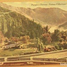 Postales: POSTAL DE MENDOZA (ARGENTINA).PARQUE Y TERRAZA TERMAS VILLAVICENCIO SIN ESCRIBIR. Lote 278958843