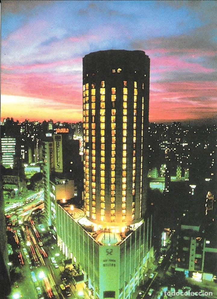 SAO PAULO HILTON - VISTA NOCTURNA - BRASIL (Postales - Postales Extranjero - América)