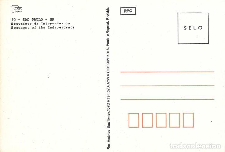 Postales: MONUMENTO DE INDEPENDENCIA - SAO PAULO - BRASIL - Foto 2 - 279351183