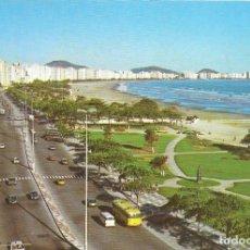 Postales: PLAYA JOSÉ MENINO - SANTOS - SAO PAULO - BRASIL. Lote 280124778
