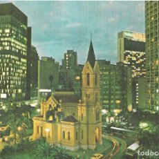 Postales: VISTA NOCTURNA DO LARGO DO PAISSANDÚ - SAO PAULO - BRASIL. Lote 280124833