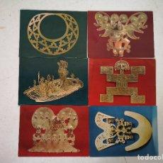 Postales: LOTE DE 6 ANTIGUAS POSTALES DEL MUSEO DEL ORO, BOGOTÁ, COLOMBIA, BANCO DE LA REPÚBLICA, 15 X 11 CMS. Lote 287141658