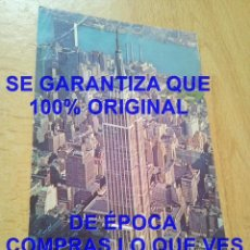 Postales: NEW YORK EMPIRE STATE BUILDING AERIAL VIEW 1966 POSTAL C PST9. Lote 288030143