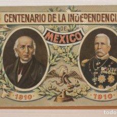 Postales: POSTAL, MÉXICO, CENTENARIO DE LA INDEPENDENCIA, 1810-1910. Lote 288082863