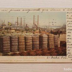 Postales: POSTAL, NEW ORLEANS, COTTON ON THE LEVEE, DETROIT FOT., 1902. Lote 288084168