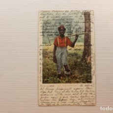 Postales: POSTAL, NEW ORLEANS, LOOKING FOR A JOB, DETROIT FOT., 1904. Lote 288084338