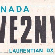 Postales: POSTAL RADIO AFICIONADO CANADA LAURENTIAN DX CLUB.. Lote 288517758