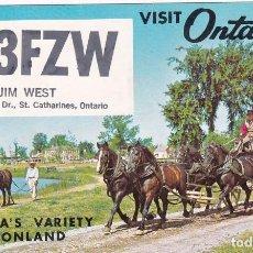 Postales: POSTAL RADIO AFICIONADO VISTA ONTARIO. CANADA. Lote 288529103