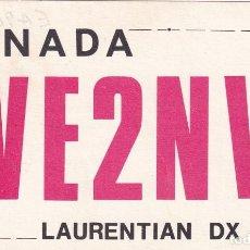 Postales: POSTAL RADIO AFICIONADO CANADA. VE2NV LAURENTIAN DX CLUB.. Lote 288529813