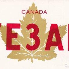 Postales: POSTAL RADIO AFICIONADO CANADA. VE3AR. Lote 288530268