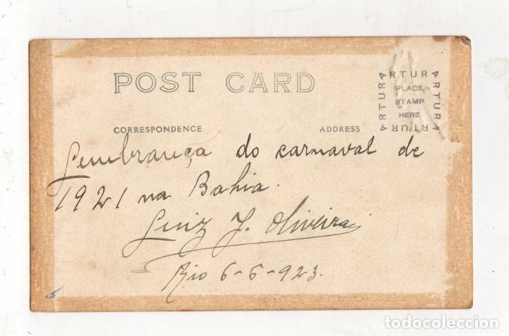 Postales: TARJETA POSTAL CARNAVAL BAHIA. RIO DE JANEIRO. BRASIL. AÑO 1921 - Foto 2 - 288930458