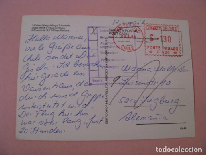 Postales: POSTAL DE CHILE. VIÑA DEL MAR. CIRCULADA 1989. - Foto 2 - 289258803
