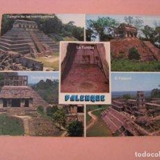 Postales: POSTAL DE MEXICO. PALENQUE. CIRCULADA. Lote 289259103