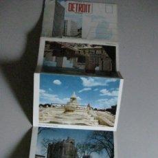 Postales: THE WORLD^S MOTOR CAPITAL **DETROIT - MICHIGAN. Lote 289702658