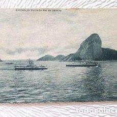 Postales: 6482 POSTAL ANTIGUA BRASIL ENTRADA DO BARRA RIO JANEIRO 1919. Lote 294261193