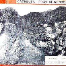 Postales: ANTIGUA POSTAL DE LA CIUDAD DE CACHEUTA PROVINCIA DE MENDOZA. Lote 294262238