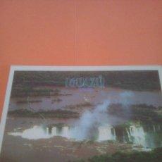Postales: CATARATAS DEL IGUAZÚ - ISLOTES SOBRE RÍO SUPERIOR. Lote 294567483