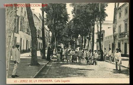 Tarjeta postal antigua de jerez de la frontera comprar for Calle prado jerez madrid