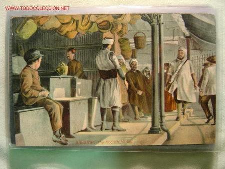 GIBRALTAR THE MOORISH MARKET (Postales - España - Andalucía Antigua (hasta 1939))