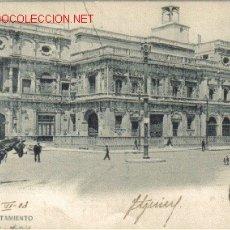 Postales: TARJETA POSTAL DE SEVILLA- EL AYUNTAMIENTO. Lote 8174902