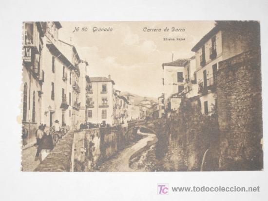 GRANADA. Nº 50. CARRERA DE DARRO. EDICIÓN REYES. NUEVA, SIN CIRCULAR. ANIMADA (Postales - España - Andalucía Antigua (hasta 1939))