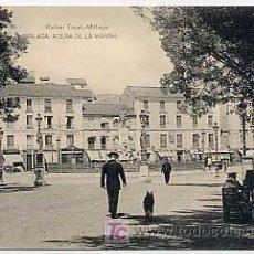 Postales: MALAGA. ACERA DE LA MARINA. ED RAFAEL TOVAL. FOTOTIPIA HAUSER Y MENET. SIN CIRCULAR. Lote 12866415