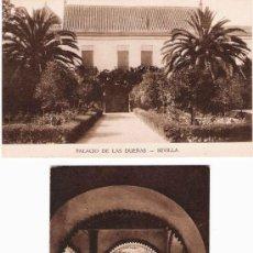 Postales: 10 POSTALES PALACIO DE LAS DUEÑAS, SEVILLA / HUECOGRABADO MUMBRÚ. Lote 22556937