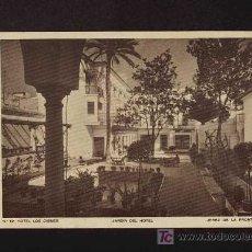 Postales: POSTAL DE JEREZ DE LA FRONTERA (CADIZ): JARDIN DEL HOTEL LOS CISNES (NUM12). Lote 3748411