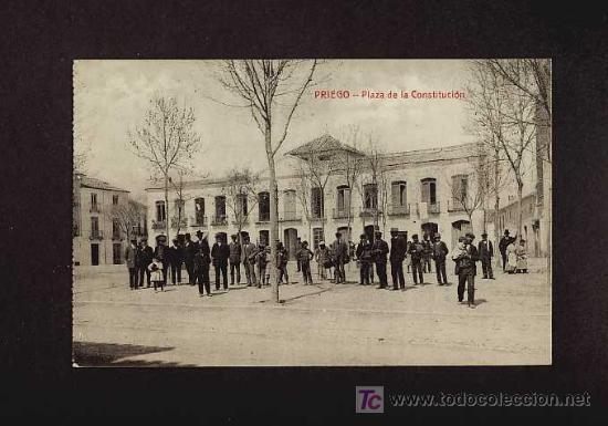 POSTAL DE PRIEGO DE CORDOBA: PLAZA DE LA CONSTITUCION (FOTOTIP.CASTAÑEIRA Y ALVAREZ) (ANIMADA) (Postales - España - Andalucía Antigua (hasta 1939))