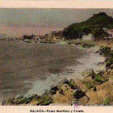 Postales: TARJETA POSTAL. MÁLAGA: PASEO MARÍTIMO Y CALETA . Lote 19102101
