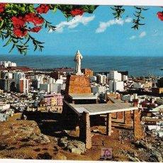 Postales: POSTAL. ALMERIA. MONUMENTO AL SAGRADO CORAZON DE JESUS. 1969. SEGURA - BEASCOA. BV. ESCRITA.. Lote 5488542