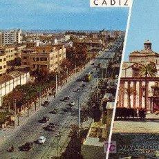 Postales: CADIZ. AVDA. LOPEZ PINTO E IGLESIA DE SANTIAGO.. Lote 25738596