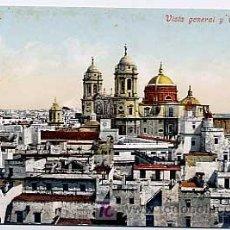 Cartes Postales: CADIZ, VISTA GENERAL Y CATEDRAL. PURGER & CO. Nº 2672. SIN CIRCULAR. Lote 4684256