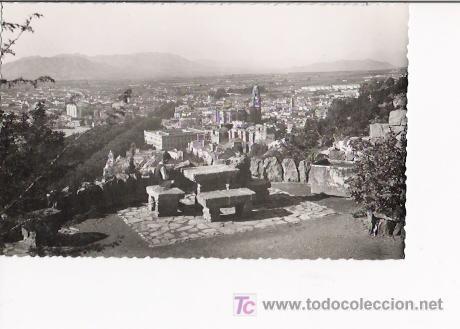 MALAGA-TARJETA POSTAL DE MALAGA, VISTA GENERAL. EDIC. PAPELERIA IMPERIO, MALAGA. FOTO CORTES. (Postales - España - Andalucía Antigua (hasta 1939))